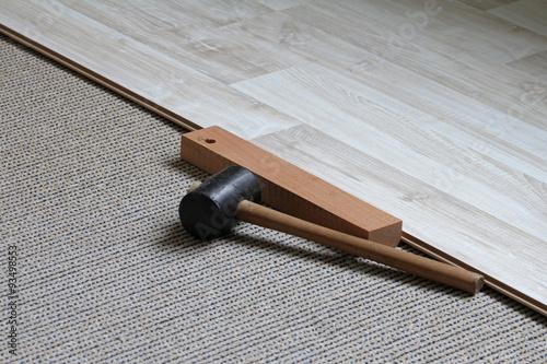 Fototapeta klicksystem flooringdielen obraz na płótnie