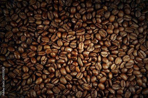 Deurstickers koffiebar Coffee beans