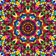 Bright Seamless Kaleidoscope Pattern