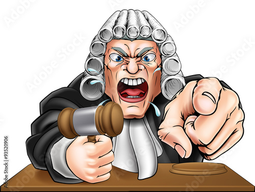 Fotografering  Angry Judge Cartoon