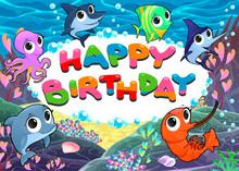 Happy Birthday Card With Marin...