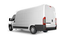 Delivery Van Mock Up - Layout For Presentation