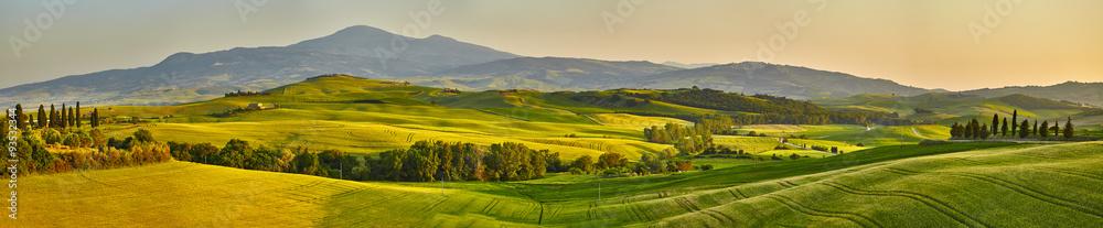 Fototapeta Tuscany hills, panorama shoot