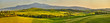Leinwanddruck Bild - Tuscany hills, panorama shoot