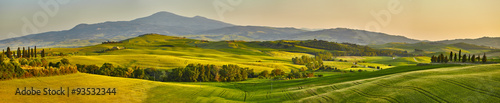 Canvas Prints Hill Tuscany hills, panorama shoot