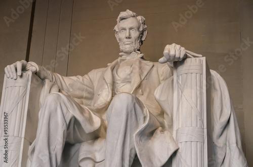 Fotografia  The statue of Abraham Lincoln, Lincoln Memorial, Washington DC