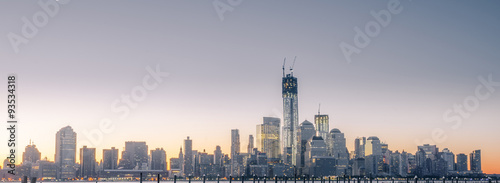 NewYork city skyline in the sunrise