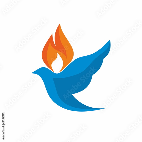 Church logo dove with flames icon buy this stock vector and church logo dove with flames icon thecheapjerseys Gallery