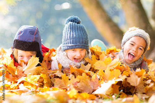 Cuadros en Lienzo Kinder im Herbst