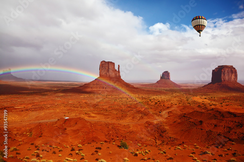 Keuken foto achterwand Rood traf. Red Desert Navajo, USA