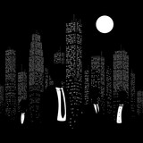 Men in suits on the background of the city