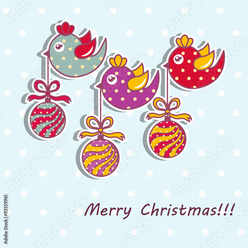 Poster Hibou Sample Christmas cards with Christmas decorations