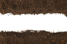 Soil On White Background