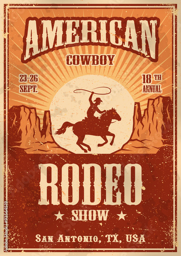 American cowboy rodeo poster Canvas-taulu