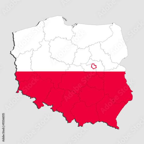 mapa-polski-w-barwach-narodowych
