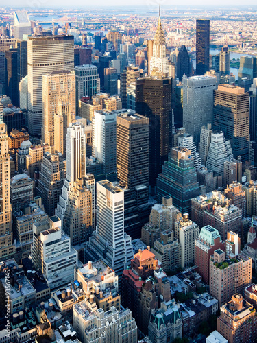 Keuken foto achterwand New York Skyscrapers at midtown New York