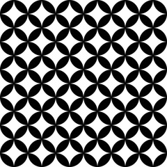 Panel SzklanyVector modern seamless geometry pattern, black and white abstract geometric background, trendy print, monochrome retro texture, hipster fashion design