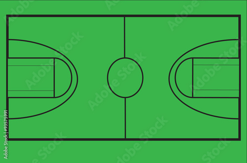 Diagram Of Basketball Court To Scale On Chroma Green Screen For