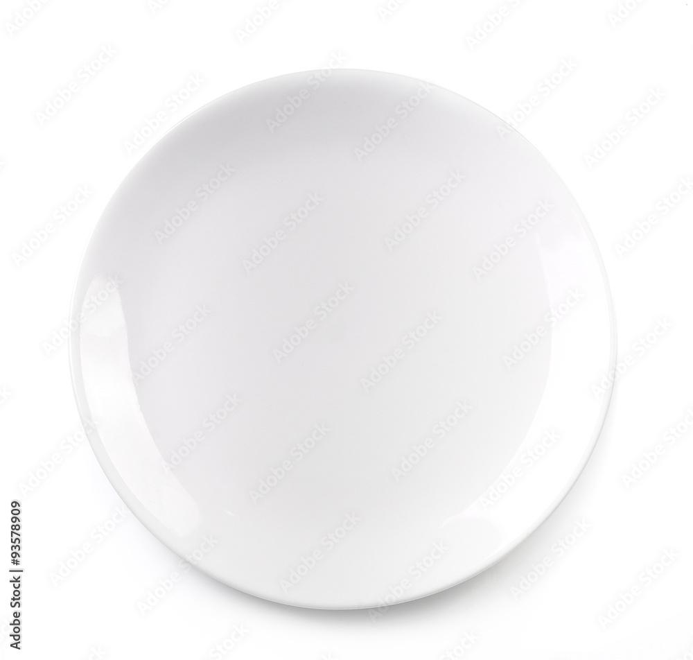 Fotografie, Obraz empty plate isolated on white background