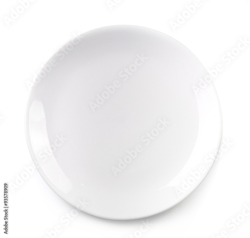 empty plate isolated on white background Fototapeta