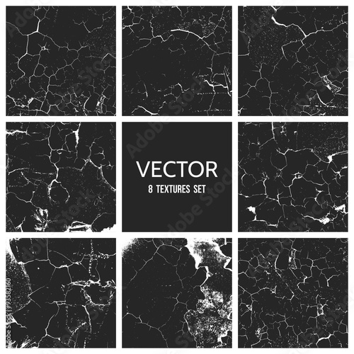 Fotografía  Cracked paint vector texture. Grunge background