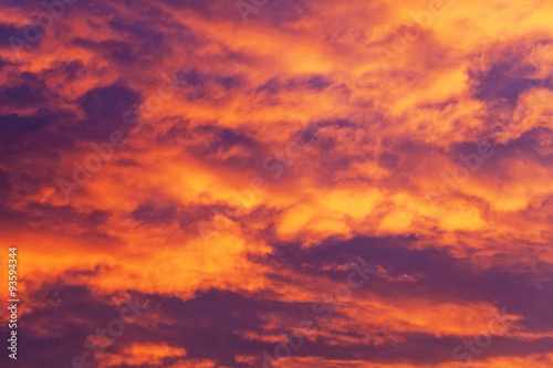 Poster Crimson Sunrise Clouds