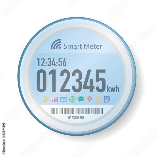 Fotografie, Obraz  Smart Meter Illustration