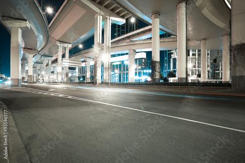City road viaduct night of night scene Fototapet