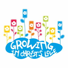 Flowers And Cloud. Growing In The Christ's Love