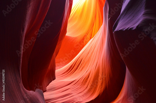 In de dag Antilope Antelope canyon, Arizona, Utah, United states of america