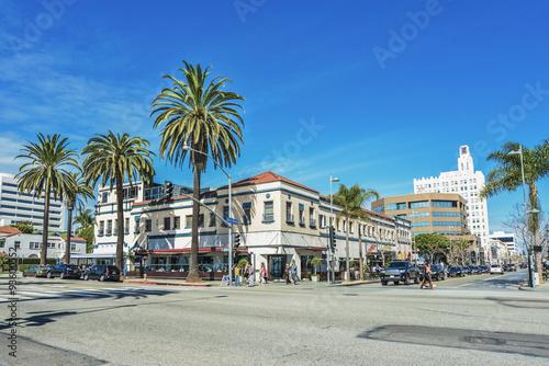 サンタモニカの市街地風景