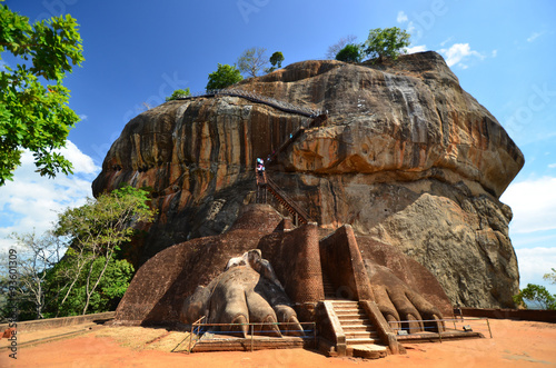 Sigiriya Lion Rock Fortress in Sri Lanka Fototapet