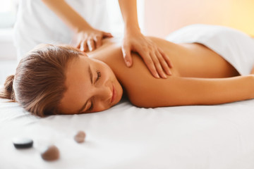 Fototapeta Body care. Spa body massage treatment.