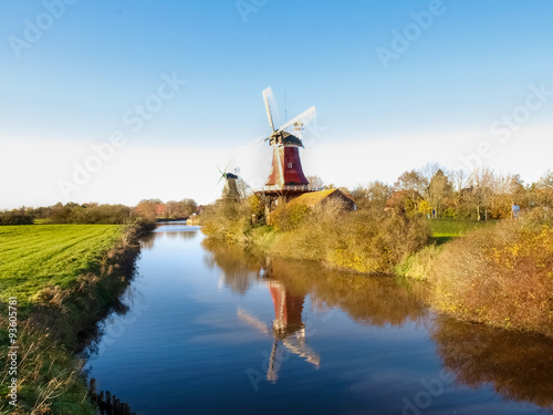 Poster Molens Greetsiel, traditional Dutch Windmill