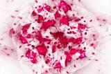 Pink fractal pattern background
