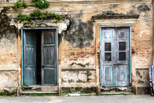 Old Ancient Door And Window Wi...