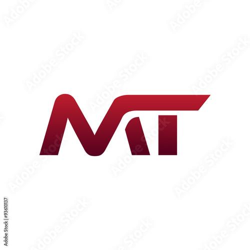 Fotografie, Obraz Modern Initial Logo MT