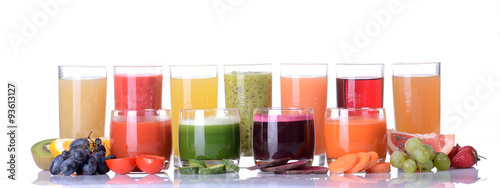 Spoed Foto op Canvas Verse groenten Fruit & vegetable juice
