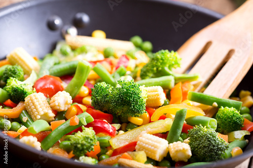Vászonkép  stir fried vegetables