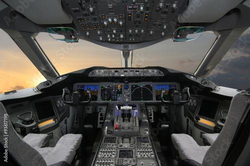 Fotografía Boing 787, Cabina de mando