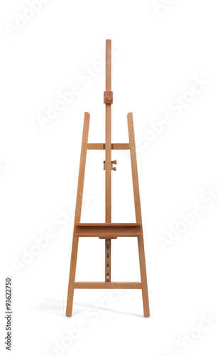 Fotomural Wooden painter easel isolated on white