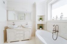 Spacious Bathroom With Big Bat...