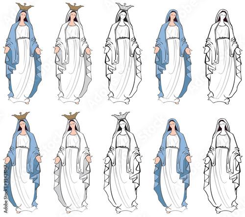 Fotografía Vector illustrations of the Virgin Mary