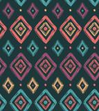 Wektorowy plemienny bezszwowy wzór z rhombuses. Tło geometryczne - 93626519
