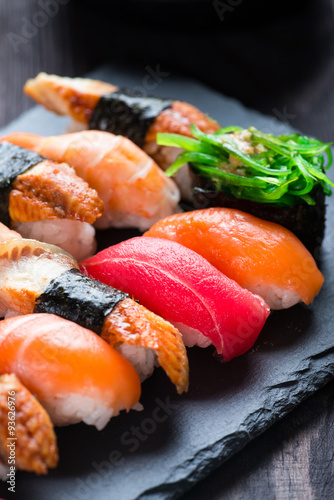 Fotografie, Tablou  Various kinds of sushi