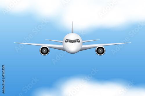 Türaufkleber Flugzeug Civil Aircraft airplane