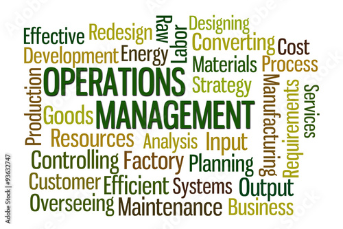 Fotografie, Obraz  Operations Management Word Cloud
