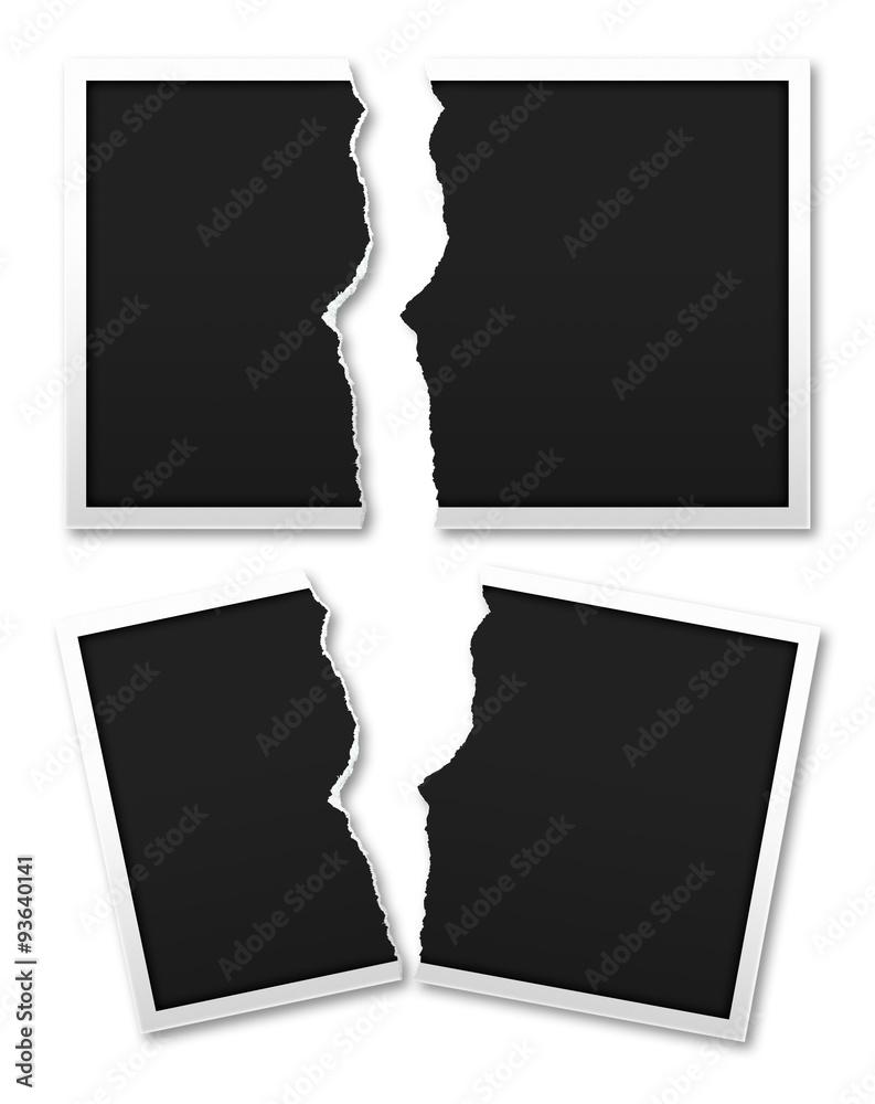 Fototapety, obrazy: Tear the photo paper