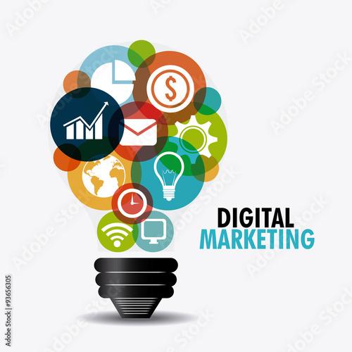 Obraz Digital marketing design. - fototapety do salonu