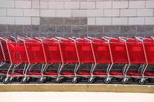Shopping Cart In A Row